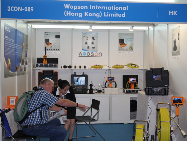 The exhibition of the sewer inspection camera