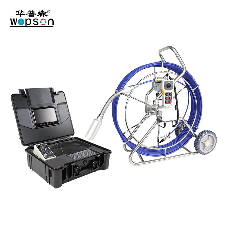A4 pan tilt Pushrod Recording Plumbing Inspection Camera