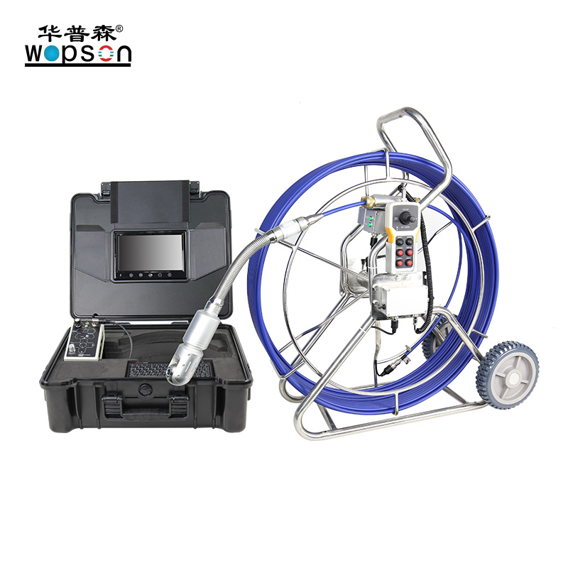 A4-C50PT 50MM 360 rotation Camera Pipe Inspection Videoscope with 60M Reel