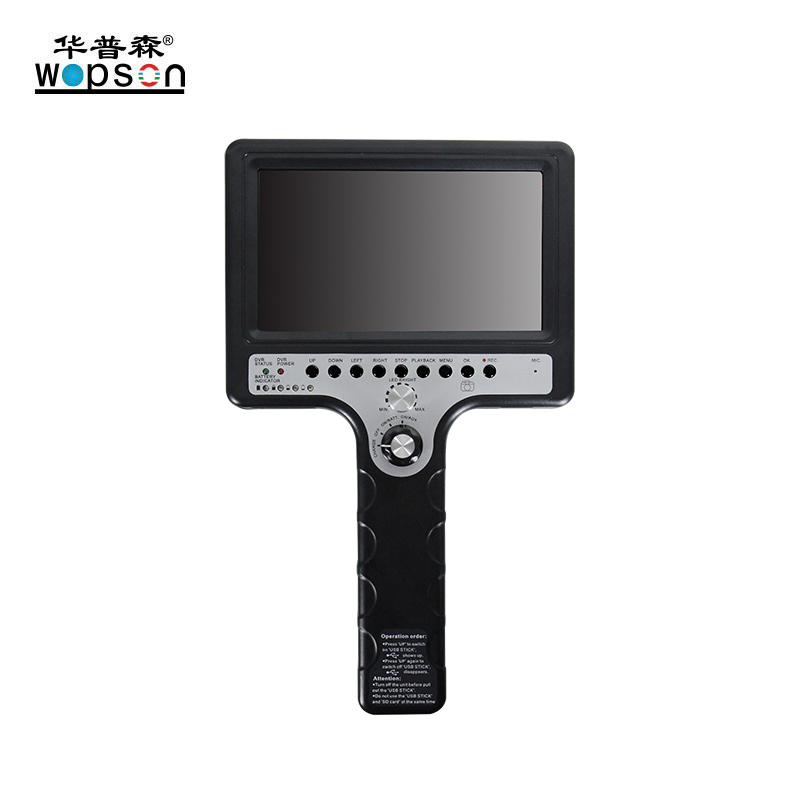 B2 WOPSON 7 inch screen 28mm self leveling camera for Pipeline Inspection system