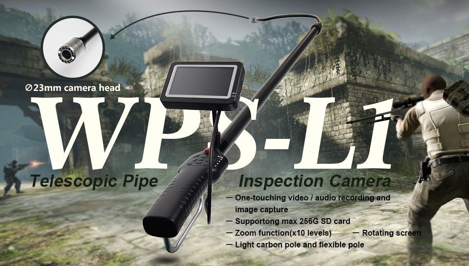 telescopic pole inspection camera